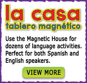 use the magnetic board for dozens of language activities
